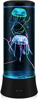 POYO Lampa lava LED Fantasy – okrągła, prawdziwa lampa do akwarium – 7 kolorów ustawień, nastrojowe światło, dekoracja do ...