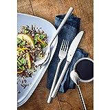 WMF Nuova Besteckset für 1 Person, 4-teilig, Monobloc-Messer, Cromargan Edelstahl poliert, spülmaschinengeeignet - 2