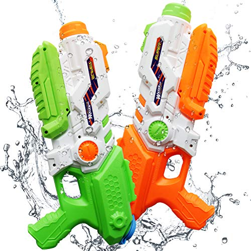 ToyerBee Water Gun for Kids, 2 Pack Squirt Guns 1200CC High Capacity &30-35 Feet Shooting Range,...