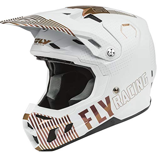 Fly Racing Formula CC Primary L.E. Men's Off-Road Motorcycle Helmets - White/Copper/Medium