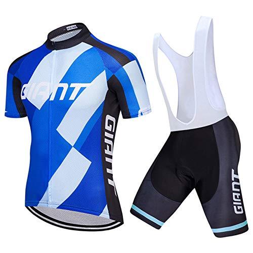 Traje Ciclismo Hombre para Verano, Maillots Ciclismo Hombre Conjunto De Ropa Verano Bicicleta Manga Corta,Ciclismo Culote Bicicleta con Pad para Deportes. B,XL