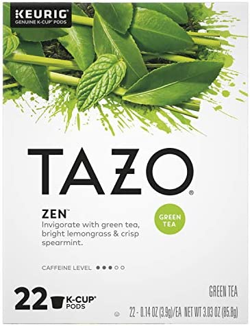 Tazo Zen K Cup Pods For a Calming Tea Beverage Green Tea Moderately Caffeinated tea 22 ct product image