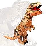 NANYA Disfraz Dinosaurio Inflable T-Rex Disfraz Brown Adult para Halloween Carnaval Fiesta Cospaly