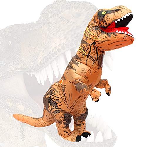 Naya - Disfraz de dinosaurio hinchable para adulto, diseño de dinosaurio