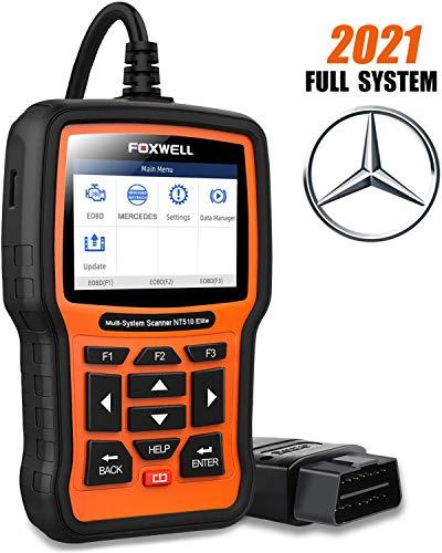 FOXWELL NT510 Elite Scanner for Mercedes Benz/Sprinter/Smart Full System Bi-Directional OBD2 Code...