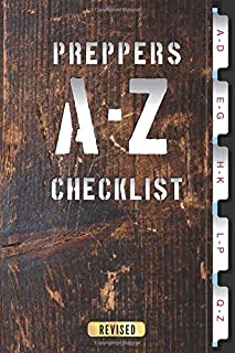 A-Z Checklist: For storing important Prepper information