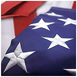 powerful VSVO American Flag 3ft x 5ft – Heavyweight Outdoor USA Indoor Flag – Star Embroidery, Stitch Stripes and more.
