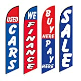 Used Cars Flag Windless Swooper 4 Lot Set Auto We Finance Buy Here Pay Here Sale