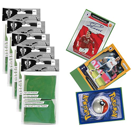 Card Sleeves Deck Protectors for Standard Size 66x91mm,Double Matte Solid Color Tranding Card Sleeves for Pokemon,Baseball,Dropmix,MTG(500 sleeves)