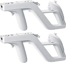 Cestbon 2 x Zapper Pistola de luz para Nintendo Wii Remote Controller,Blanco