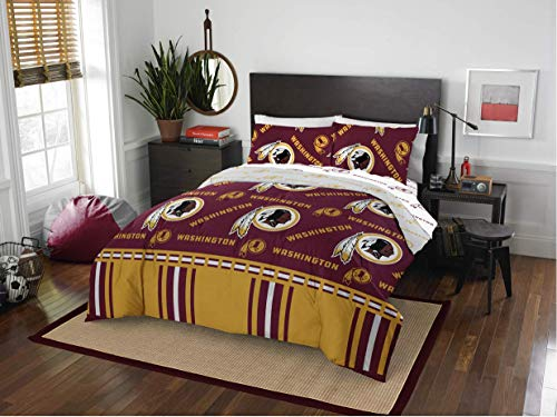 Washington Redskins Queen Comforter & Sheets, 5 Piece NFL Bedding, New! + Homemade Wax Melts
