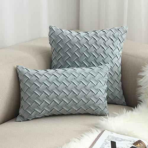 W&HH SHOP Ins Style Pillow Respaldo para automóvil Cojines de Gamuza Hechos a Mano de Ciervo Artículos para el hogar One Big One Kit pequeño 45 * 45cm + 30 * 50cm,A17