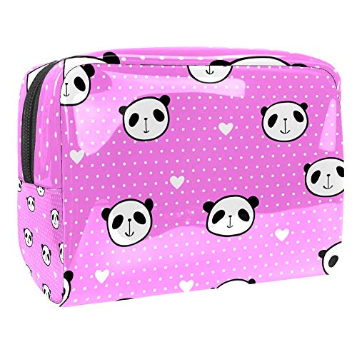 Maquillage Cosmetic Case Multifunction Travel Toiletry Storage Bag Organizer for Women - Panda Face Heart
