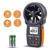 Medidor CFM Portátil con Anemómetro Digital con Conexión USB:el Medidor de Velocidad del Viento Mide la Velocidad del Viento,la Temperatura,el Flujo de Aire con Retención de Datos,la Humedad Relativa