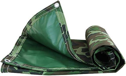 Écran Solaire résistant aux UV, bache imperméable, Camouflage tissé Haute densité, anticorrosion et Anti-oxydation, pour tentes de Camping FENGMING (Couleur   Vert, Taille   4.5×7m)