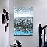 Peinture à l'huile peinte à la Main Sur Toile, peinture nordique Moderne minimaliste Lake Shore Palette Grand Couteau Pop Art Mural galerie Chambre Salon décoration murale-150_ × _200cm