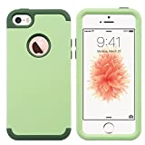 ULAK Coque iPhone 5S, iPhone Se Coque, iPhone 5S Coque 3en1 Hybride Antichoc en...