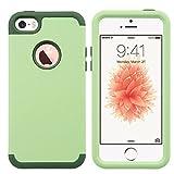 ULAK Coque iPhone 5S, iPhone Se Coque, iPhone 5S Coque 3en1 Hybride Antichoc en...
