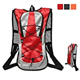 Bike Backpack 5L Water Resistant with Night Reflective Tape,Small Cycling Rucksack Breathable Lightweight for...