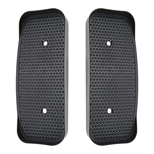 Par de pedales elípicos negros para fitness, pedales, accesorios de plástico, 34,5 x 15 cm, compatible con XS SPORTS CROSS TRAINER