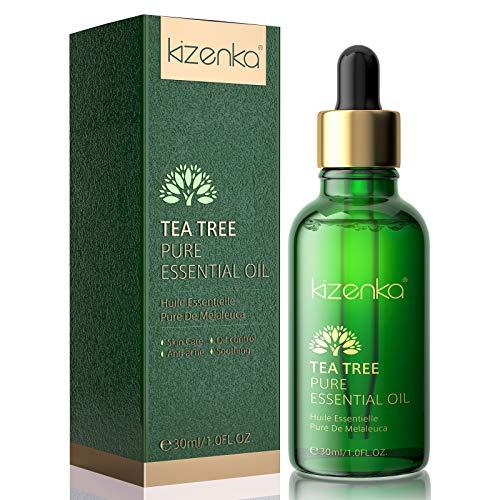 Aceite de arbol de te kizenka para piel, aceite esencial de arbol de te para tratamiento facial natural para acne manchas- 30ML