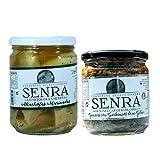 Pack de Conservas de Alcachofas Marinada y Espinacas con Garbanzos - Bote de 400 y 180 g - Conservas Senra