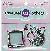 Jewelry Locket-Silver Diamond