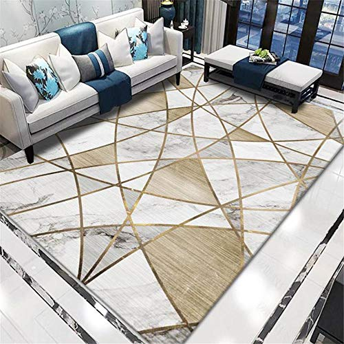 Carpets kitchen rugs non slip washable Breathable cozy gray gold marble pattern can be washed floor ornaments carpet runners 60*90CM