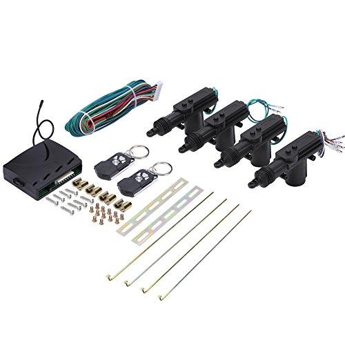Car Remote Kit, Universal Car Central Power Door Lock/Unlock Kit Remote Locking Security System Keyless Entry