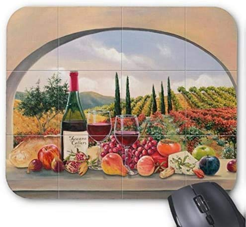Mousepad Obst und Wein / Pastoral Harvest Pattern Print Mouse Mat