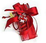Zelda Bomboniere Bonboniere Dose transparent mit Anhänger Kreuz rote Laurea (zelda1859)