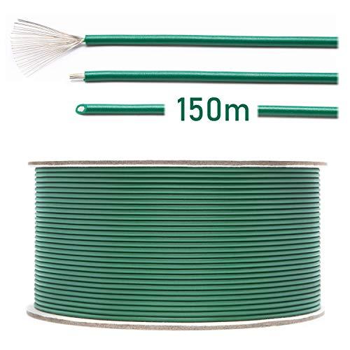 LOHAG - Universal Begrenzungskabel Begrenzungsdraht Kabel für Mähroboter Rasenmäher Rasenroboter Zubehör – hochwertig verzinntes kupferplattiertes Aluminum - Ø2,7mm - 150m