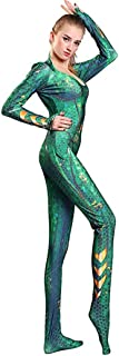 Mera Princess Women Girl Cosplay Costume Green Jumpsuit