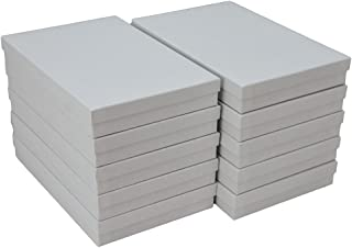 """JPB White Swirl Cotton Filled Jewelry Boxes #96 (Pack of 10) 9"""" x 6"""" x 1.25"""""""