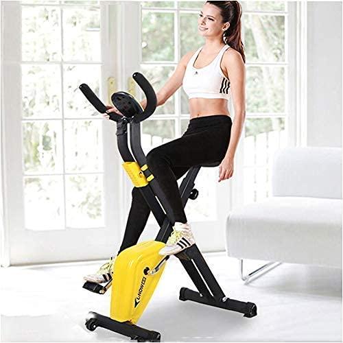 Bicicleta Vertical magnética Plegable/Bicicleta de Ciclismo de Interior/Soporte para Bicicleta estática para Montar en Interiores/Bicicleta estática reclinada/Bicicleta Plegable de Gran Tama