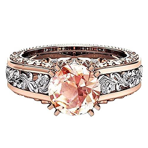 Younoo1 - Anillo de diamante a la moda, anillo de compromiso, anillo de boda, compromiso, regalo de cumpleaños