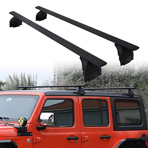 Snailfly Cross Bars Roof Rail Racks Fit for 2007-2018 Jeep Wrangler JK & 2018 2019 2020 2021 Jeep Wrangler JL Unlimited 2&4DOOR Crossbars