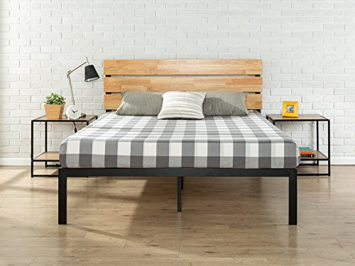 Zinus Paul Metal and Wood Platform Bed with Wood Slat Support, Full