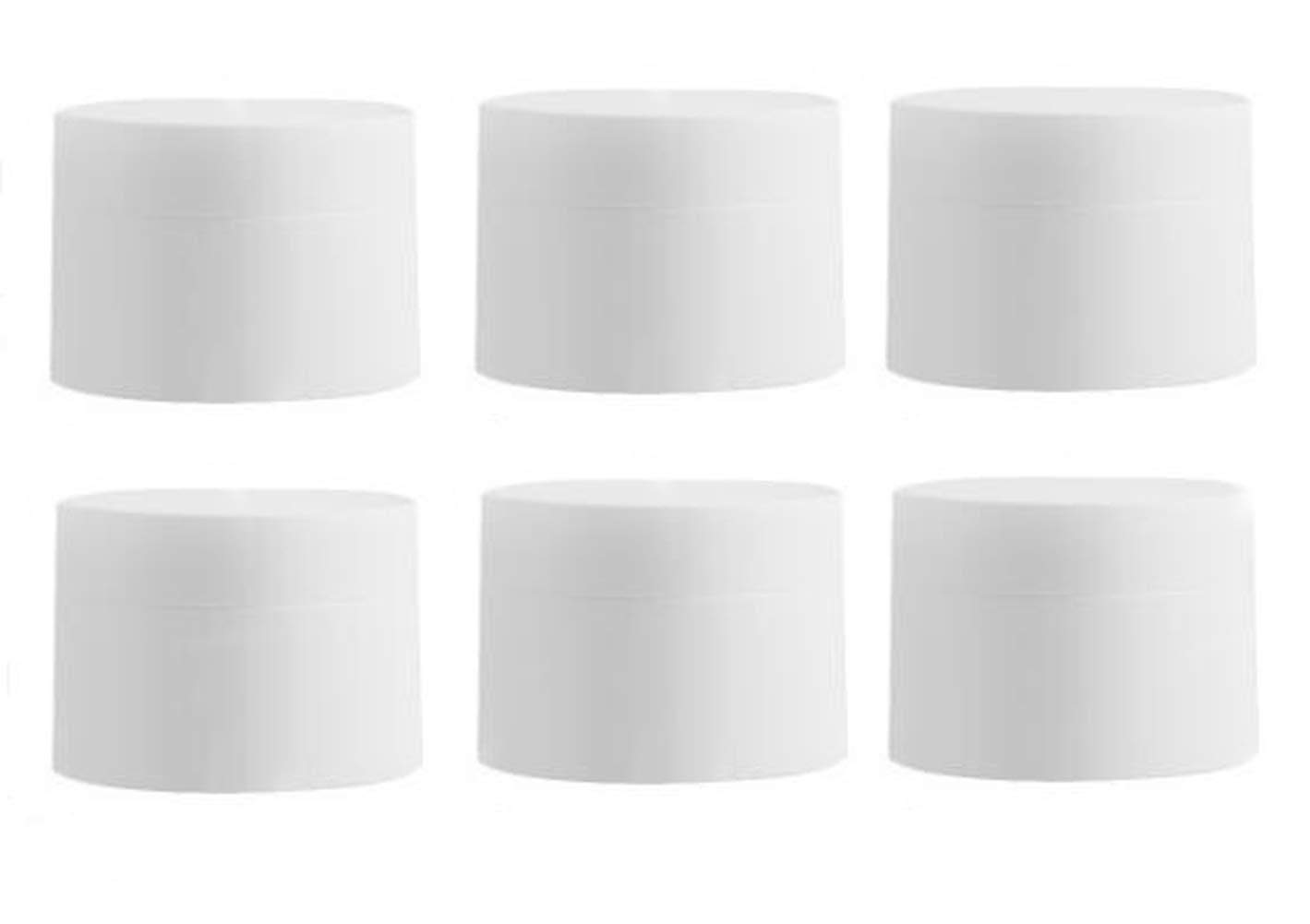 6PCS 80g 2.7oz Empty Refill Nippon Tucson Mall regular agency Scrub Cosmetic Sample Plastic White