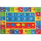"""Kev & Cooper Playtime Collection ABC, Numbers and Shapes Educational Area Rug - 3'3"""" x 4'7"""""""
