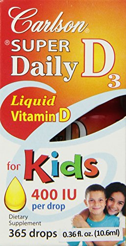 Carlson Labs Kid's Super Daily D3, 400 IU, 10 ml