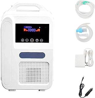 S SMAUTOP Concentrador de Oxígeno Hogar Portátil 1L / min Concentración de Oxígeno 55% ± 3 Generador de O2 Purificador de Aire Diseño de Reducción de Ruido Con Adaptador para Coche