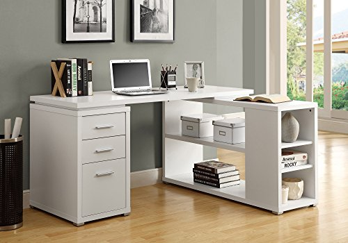 Monarch Specialties Hollow-Core Left or Right Facing Corner Desk,...