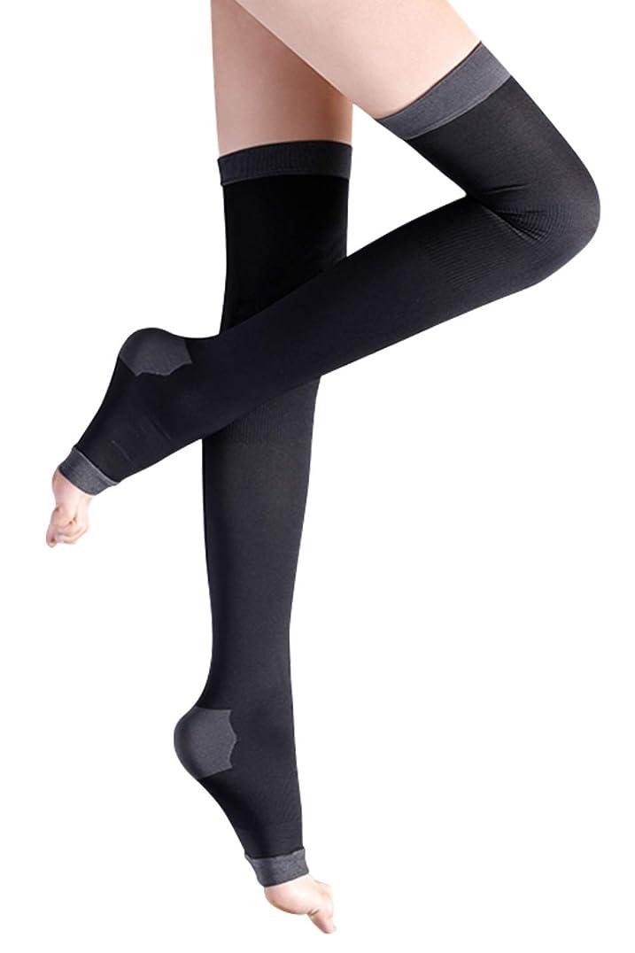 会話型寄稿者露出度の高い着圧ソックス レディース ロング 健康?美容ソックス 着圧 靴下