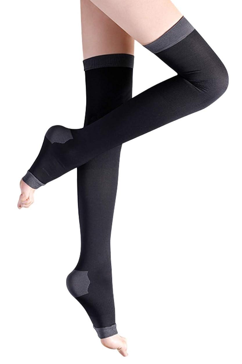 シネウィ円形の家事をする着圧ソックス レディース ロング 健康?美容ソックス 着圧 靴下