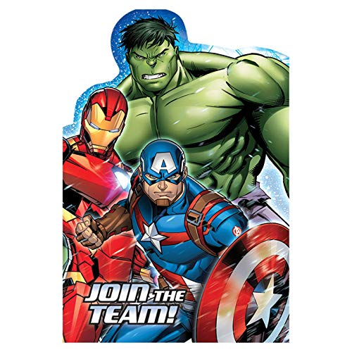 Avengers Party Invitations (Pack of 8)