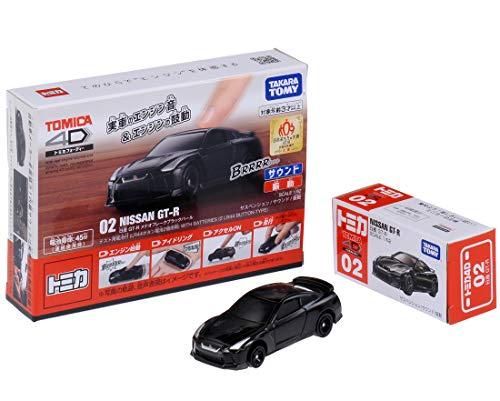トミカ4D 02 日産 GT-R メテオフレークブラックパール