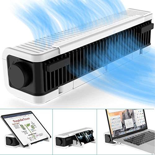 ZP-office Laptop-kühler Einstellbar Laptop-ständer,USB-Notebook Kreuz-durchflusskühlung Fan & Pad,Multifunktion Turbinenhalter Für Laptop Tablet Telefon Weiß