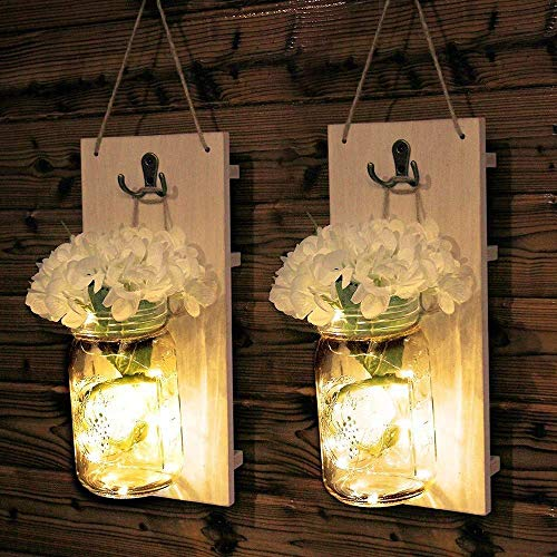 Lámpara de Pared Lámpara de Pared Blanca Patio Exterior Lámpara Colgante de jardín Atmósfera Retro Lámpara de Botella Luz 26 * 13 (cm)
