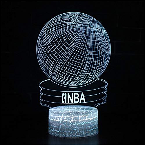 Lámpara 3D de ilusión 3D de la NBA, 16 cambio de color, decoración con mando a distancia, para sala de estar, cama, bar, mejor regalo de juguetes